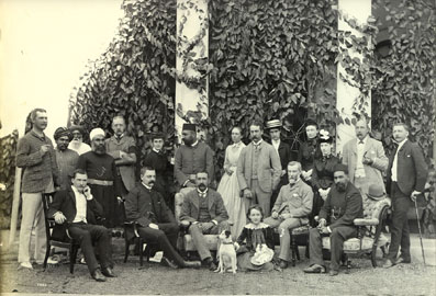 Visit of Chloroform  Commission to Hyderabad 1889     (Click to Enlarge)