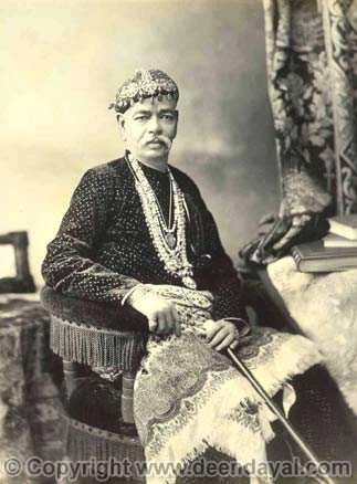 Bansi Raja Girdhari Pershad, Commander of Nizam's irregular forces 02-09-1891